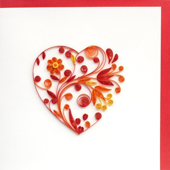 Квиллинг открытки сердечко