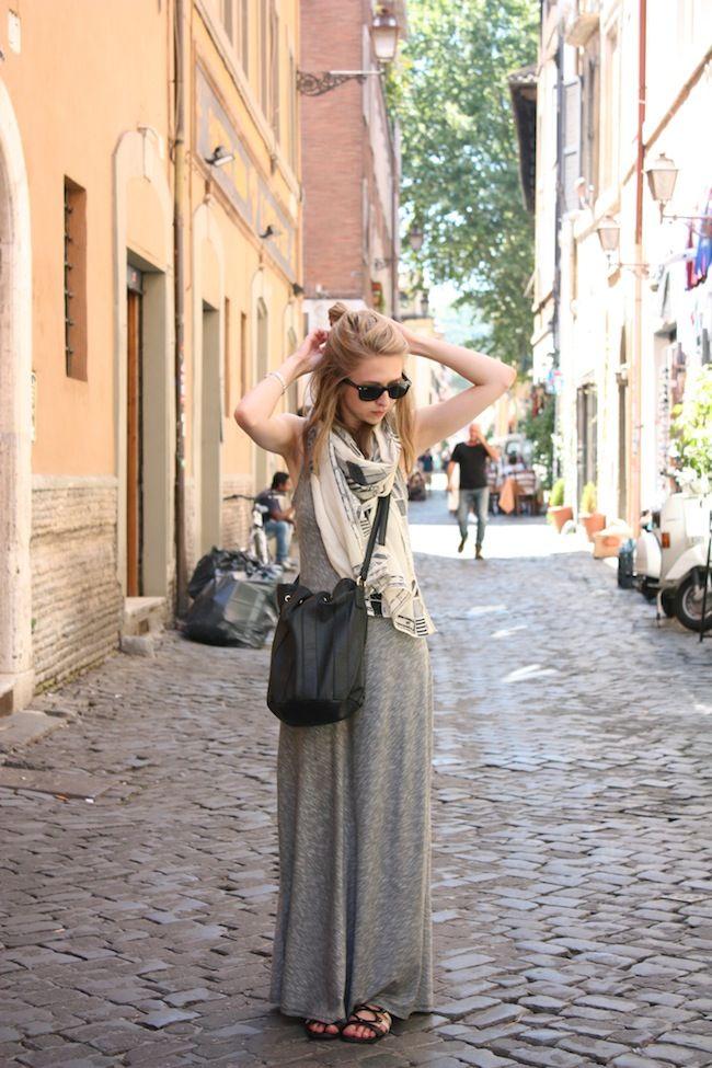 Target dress, Madewell scarf, JustFab bag, Shoedazzle sandals