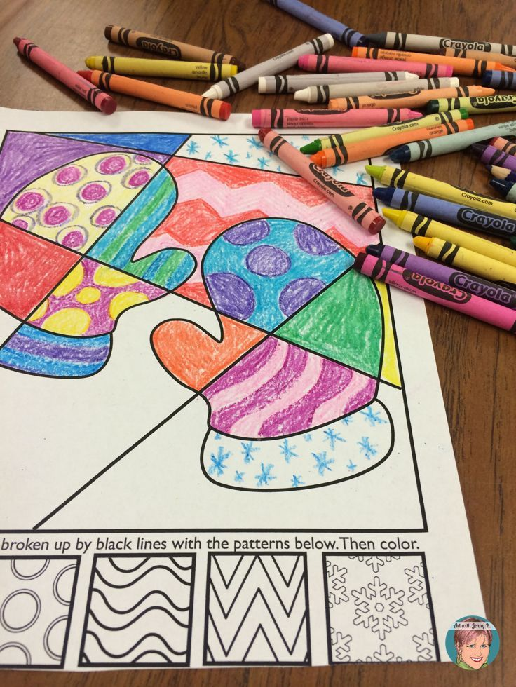 Winter mittens coloring page for kids!