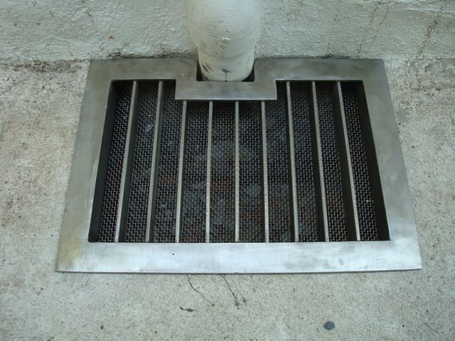 Storm drain. Stainless steel.