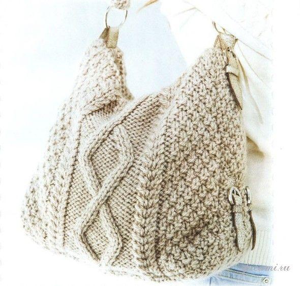 Voici des jolies modèles des sacs au tricot ... Le premier modèle de sac blanc au tricot avec ses grilles gratuites.. Voici un autre modèle de sac beige au tricot avec sa grille gratuite.. Bon tricot ...