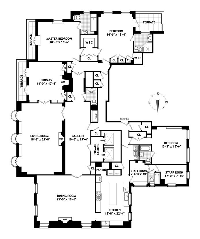 233 best images about penthouse on pinterest floor plans for Apartment floor plans new york city
