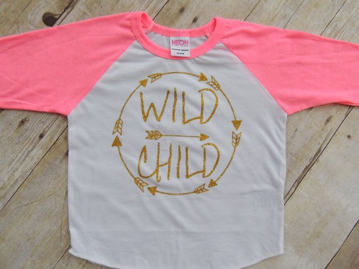 wild child, raglan tee, raglan shirt, toddler raglan, baby raglan, gold glitter, wild child shirt, trendy baby girl clothes, hipster, girl by Our5loves on Etsy https://www.etsy.com/listing/250447898/wild-child-raglan-tee-raglan-shirt