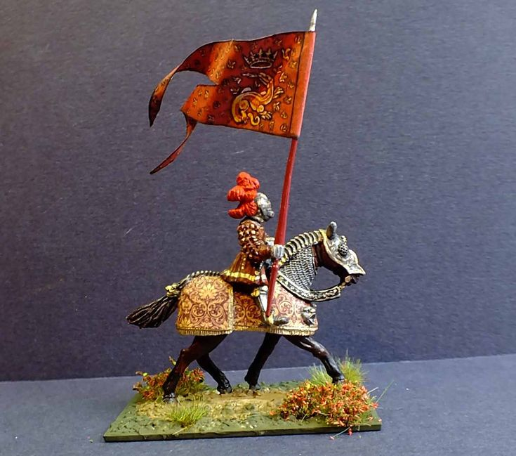 French Gendarme d' Ordonnance 1521. Steel Fist Miniatures. Painted by Bob Hornsby.