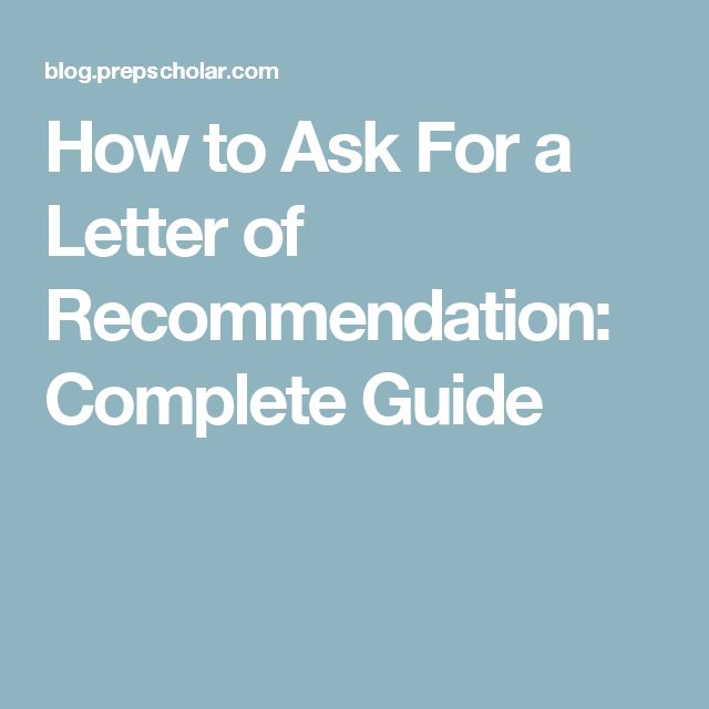 The 25+ best Writing letter of recommendation ideas on Pinterest - recoommendation letter guide