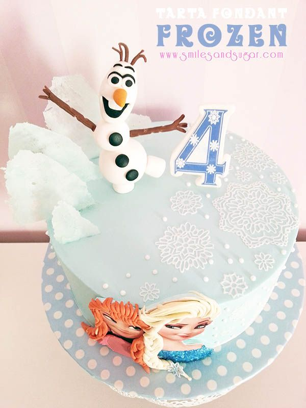 Frozen Cake - Tarta fondant Frozen