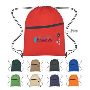 Non-Woven Logo Drawstring Bag - Custom Drawstring Backpack