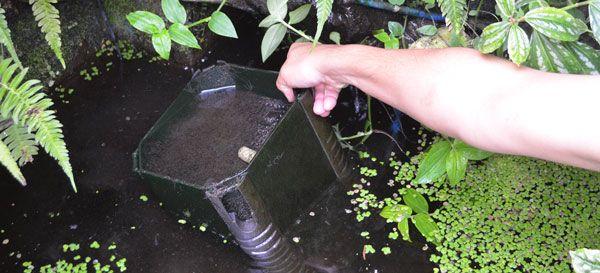 Filtro sumergible para estanque