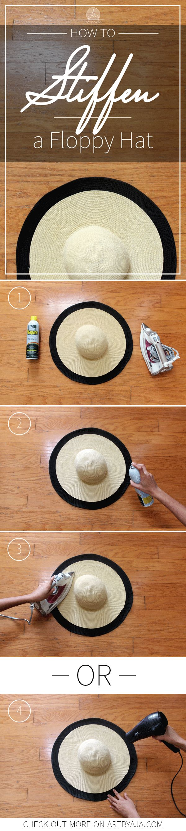 This technique works wonders! I've done this to multiple hats with great success. If you've ever had an accident where your hat was crushed or wrinkled (Like me and mine ) this is for you. Learn how to stiffen all of your hats for good!