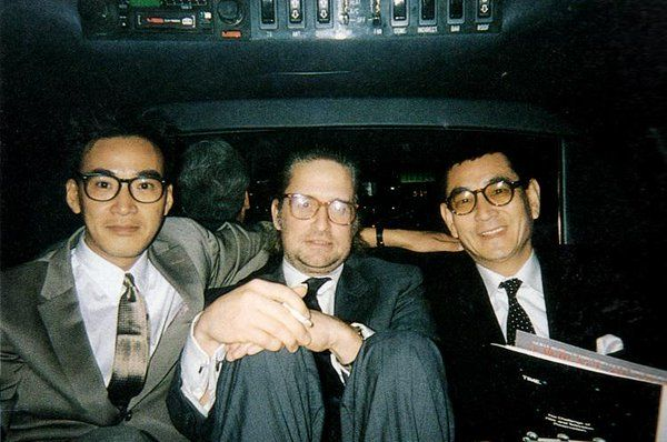 Yusaku Matsuda with his co-stars Michael Douglas and Ken Takakura