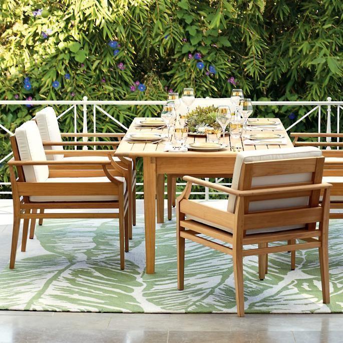 Tambora 7 Pc Rectangular Dining Set Rectangular Dining Set Outdoor Outdoor Furniture