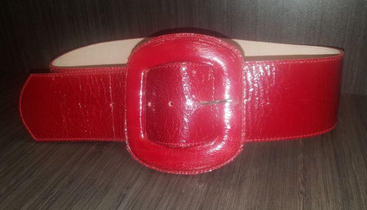 """Leatherock Red Belt Fashion Size: 28""""-32"""" Statement #Leatherock #FashionStatmentwideBelt"""