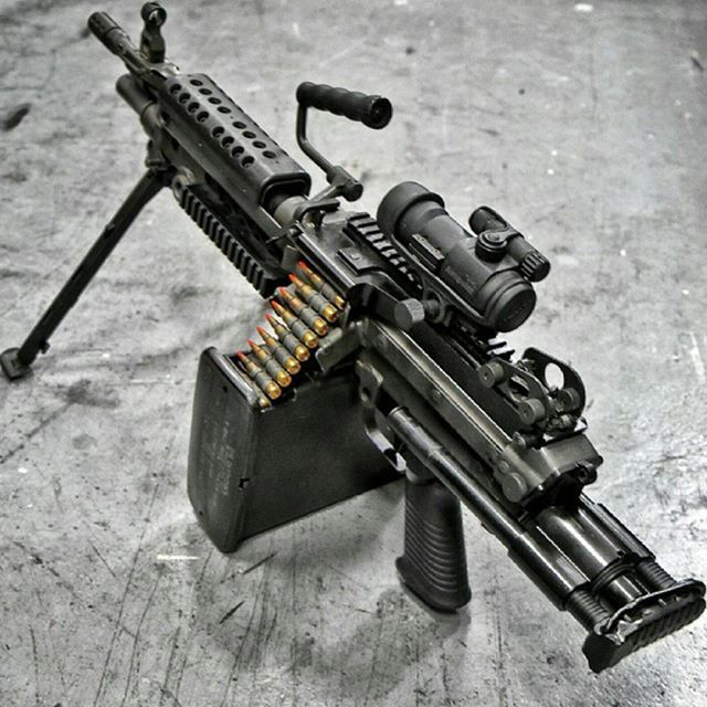 and machine gun