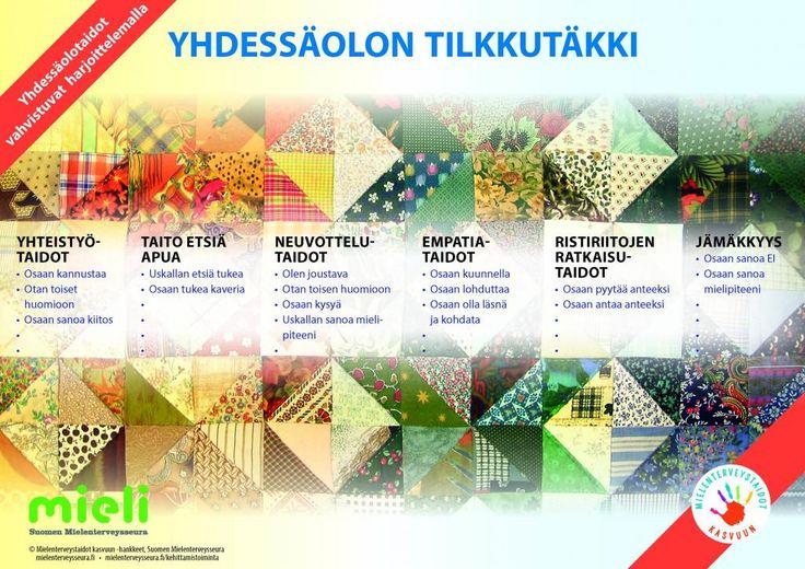 Yhdessäolon tilkkutäkki | Suomen Mielenterveysseura