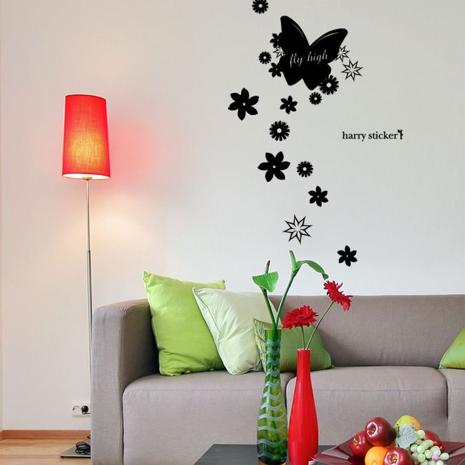 ウォールステッカー wallsticker flying-butterfly