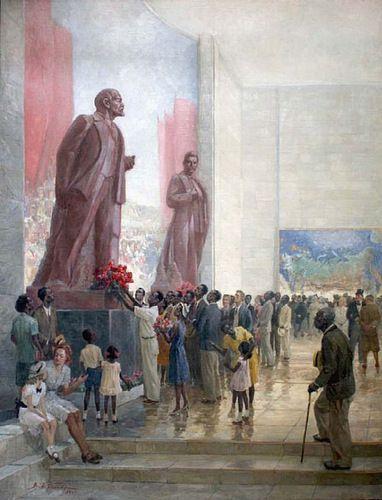 857. С.Д. Меркуров. Памятник И.В. Сталину (Москва, 1938) - Synthart