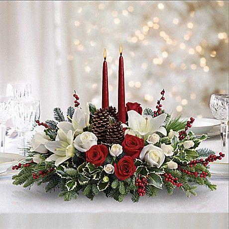 Christmas Wishes Centerpiece Bouquet Más