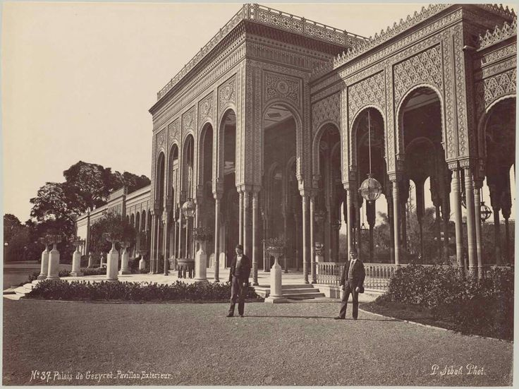 Gezirah Palace (Currently, Cairo Marriott Hotel) | By Pascal Sebah | Cairo, Egypt 1875.