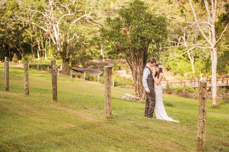 Garden Ceremony. Wedding at Spicers Tamarind Retreat - Sunshine Coast.