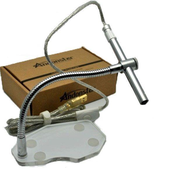 Andonstar 500x 8 LED 2MP microscopio USB cámara de inspección endoscopio otoscopio PCB lupa de cámaras digitales