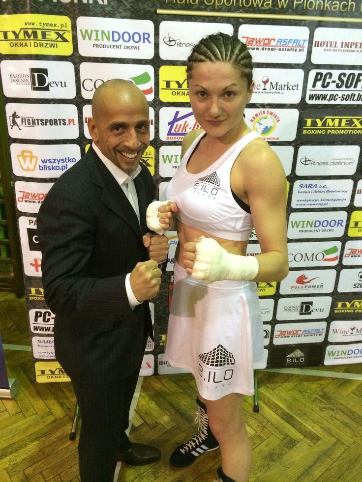 Ewa Brodnicka ze sponsorem Marco Beniamino Brioschi właścicielem firmy B.ILO Poland