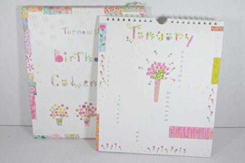 Calendario mensile senza Anno per Date da Ricordare - Birthday calendar - deco fiori e piante - Cm.19,5x22,5 -Idea regalo disponibile da C&C Creations Store
