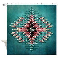 Southwest Native Style Sunburst Shower Curtain