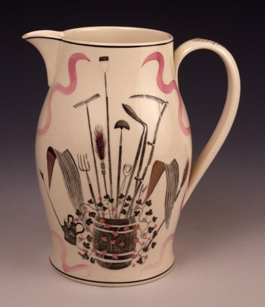"""GARDEN"" design jug by Eric Ravilious for Wedgwood, 1939"