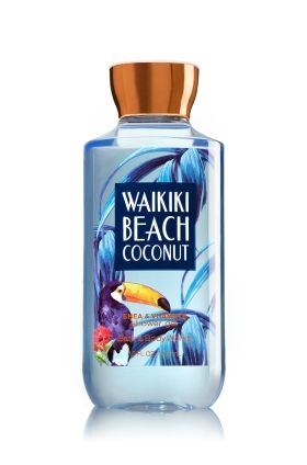 Waikiki Beach Coconut - Shower Gel - Signature Collection - Bath & Body Works - Welcome to paradise! Wash your way to softer, cleaner skin with a rich, bubbly lather bursting with fragrance. Moisturizing aloe and vitamin E combine with skin-loving shea butter & nourishing coconut oil in our most irresistible, beautifully fragranced formula!