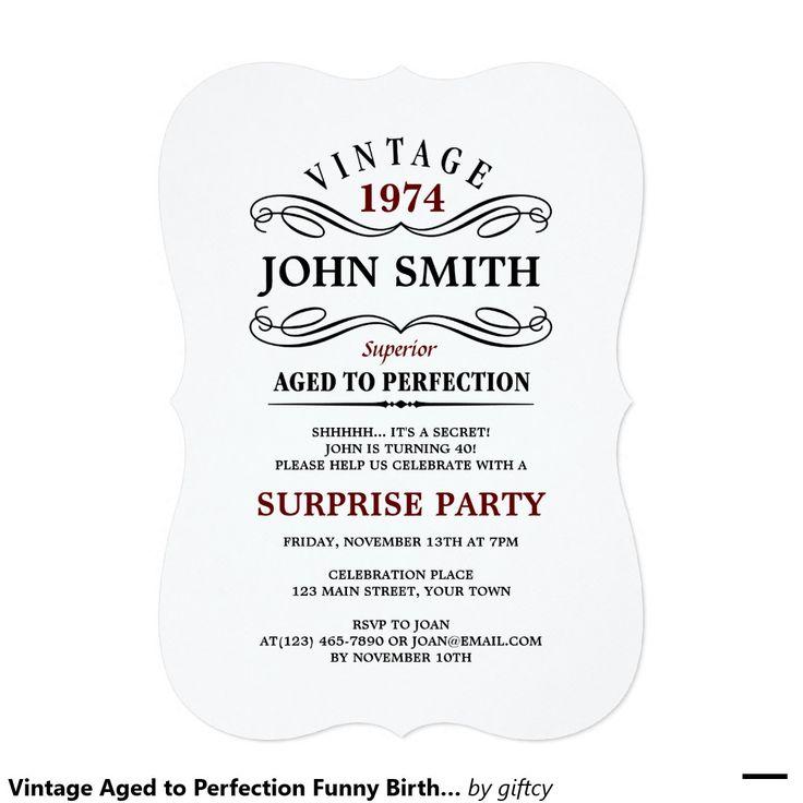 Best 25+ Funny birthday invitations ideas on Pinterest | 60th ...
