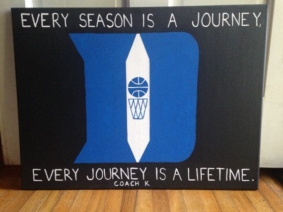 Duke basketball canvas // coach k // quote // by SaltwaterShores