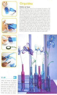 Orquideas con plastico de botellas