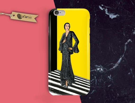 French Beautiful Woman iPhone 7 Case iPhone 6 by KatarsisFactory