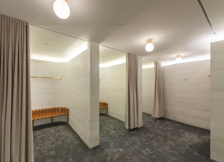 Striated Concrete Partitions Create Fitting Rooms At Thakoonu0027s First  Boutique Part 37