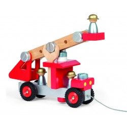 Camión de bomberos de madera. De 2 a 6 años. Medida:40x7.5x12.6 cm.