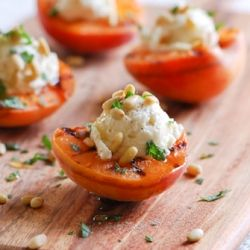 Grilled Apricots with Goat Cheese #foodgawker