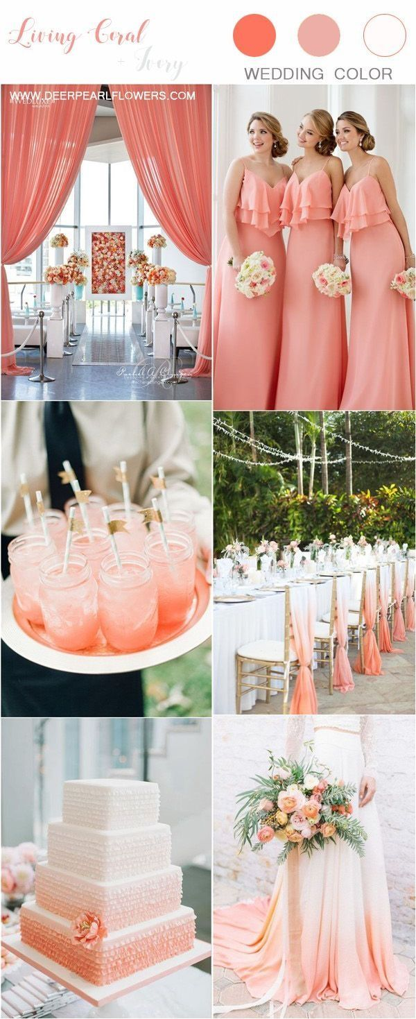 Coral Wedding Theme For Trending This Year In 2020 Coral Wedding Colors Coral Wedding Themes Coral Beach Wedding Decorations