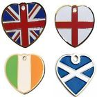 Engraved Pet ID Tags FLAG Heart Shape Dog Disc Disk Key Ring Engraved & Post Inc