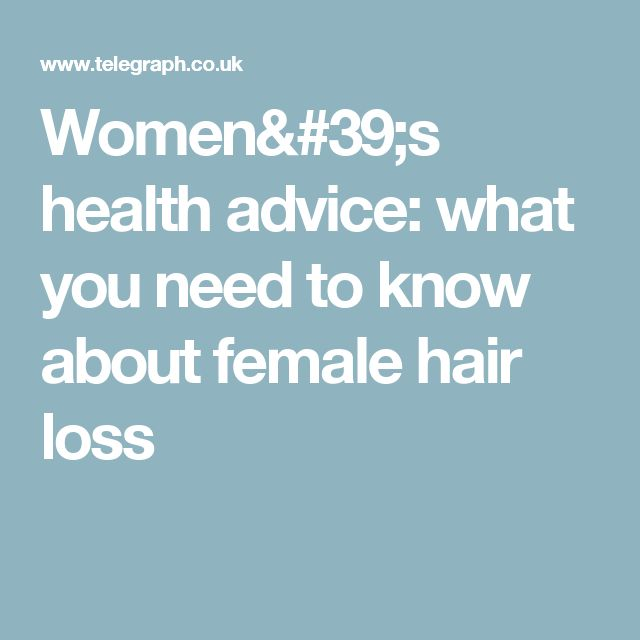 Women's health advice - what you need to know about female hair loss #hairlossremedywomen #naturalhairlossremedy #HairLossTreatments