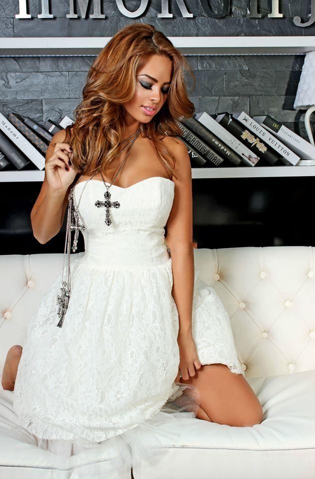 White Spring Lace Dress - Baronesa Fashion House