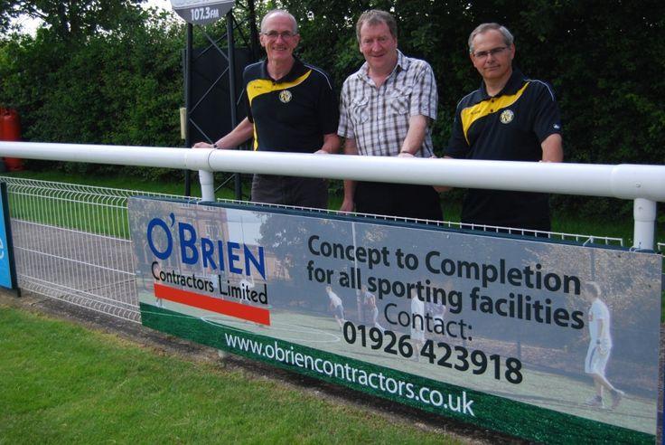 Sports pitch construction contractors O'Briens sponsor Leamington FC  http://obriencontractors.co.uk/
