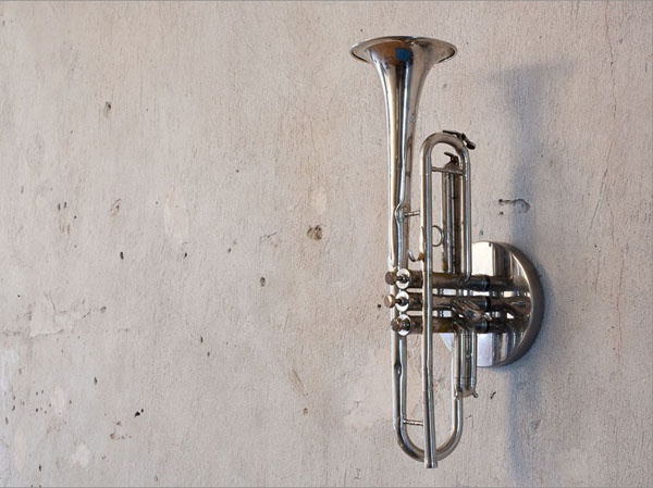 """This wall light made from a Trumpet brings happy memories of my Dad and his Silver Trumpet. I may do this with his Trumpet so his love for music can always """"Shine"""" on being a """"Light"""" of inspiration for our family in the years to come. (I love you Daddy & I miss you)"""