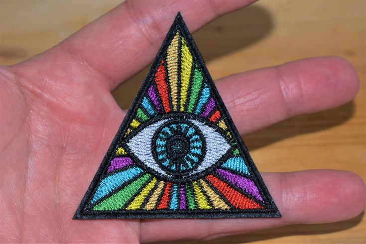 #etsy shop: Rainbow Eye of Providence - Iron stick Embroidered patch/applique For T-Shirts,Hats,Jackets,Pants, Vintage Collection supreme quality. http://etsy.me/2n3dg8C #accessories #patch #birthday #easter #embroideredpatch