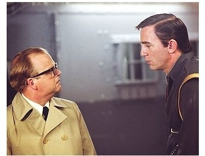 Infamous Movie Stills: Toby Jones as Truman Capote and Daniel Craig as Perry Smith