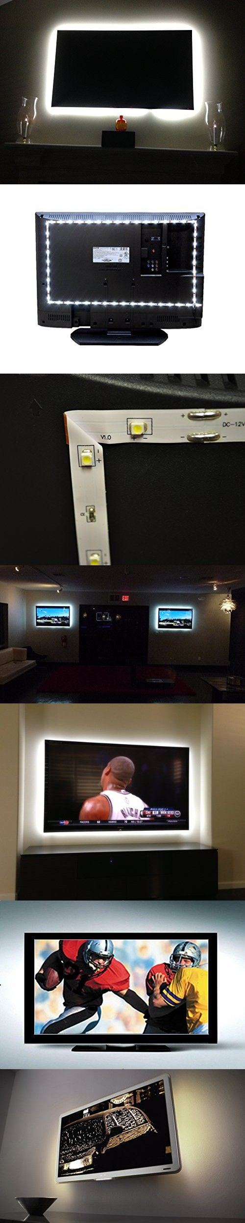 "Inspired LED Home Theater | Accent Light Kit | Ambient Light TV LED Backlight | With USB Switch | Small - 123 inch Flexible LED Strip Light | Fits up to 42"" Flat Screen TVs"