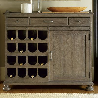 Universal Furniture Berkeley 3 16 Bottle Wine Cabinet & Reviews | Wayfair
