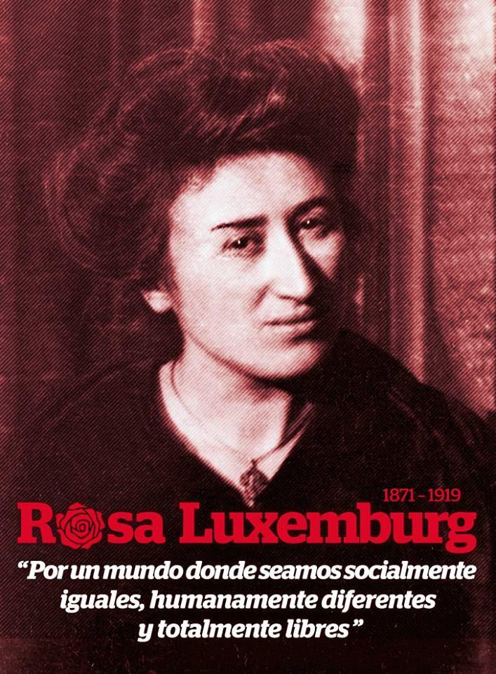 """""""Por un mundo donde seamos socialmente igual, humanamente diferentes y totalmente libres"""" Rosa Luxemburg, 1871-1919 #bibliotecaugr #citas #Luxemburg Documentos en la BUG: http://adrastea.ugr.es/search~S1*spi?/aLuxemburg%2C+Rosa%2C+1870-1919/aluxemburg+rosa+++++1870+++++1919/-3%2C-1%2C0%2CB/exact&FF=aluxemburg+rosa+++++1870+++++1919&1%2C18%2C"""