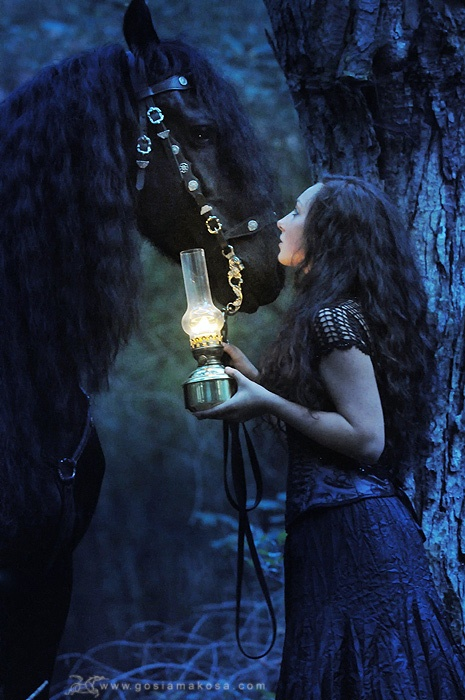 Woman / Horse / Lantern - Pose / Lighting