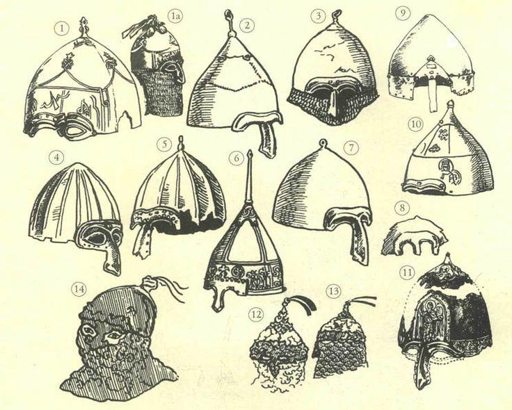 6, 9 ve 10 numaralı miğferler, Alp Er Tunga, Danişmend ve Battal Gazi için kullanılabilir.