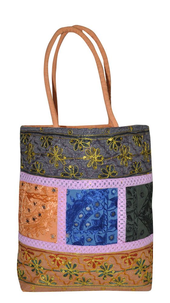 Indian Vintage Mother Day Gift Tote Bag Embroidered Womens Fashion Cotton Bags #LalHaveli #TotesShoppers